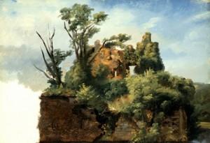 Pierre-Henri de Valenciennes, Paysage avec ruine, ca. 1782-1785, huile sur toile, 41,91 x 57,15 cm, Los Angeles, LACMA.